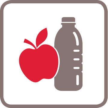 Icon Apfel und Getränk